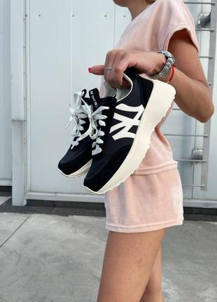 Mlb sneakers black white кроссовки денские по типу 327 nb⚫