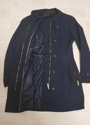 Тренч zara basic плащ куртка