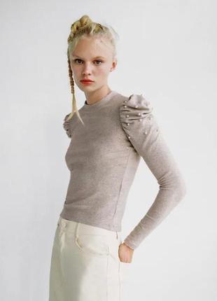 Zara свитер гольфик гольф пуловер водолазка