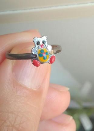 """Детское серебряное кольцо """"мишка"""""""