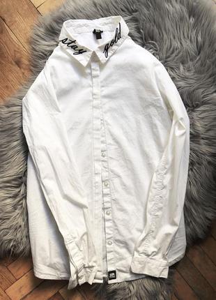 Классная хлопковая рубашка robin shulz размер м (38)