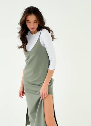 Платье комбинация сарафан с гольфом