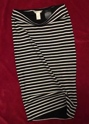 Новая юбка-карандаш в полоску h&m (xs-s)