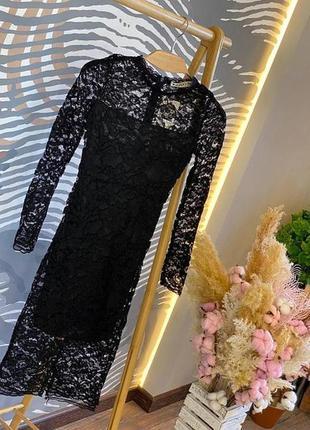 Длинное миди платье футляр кружево