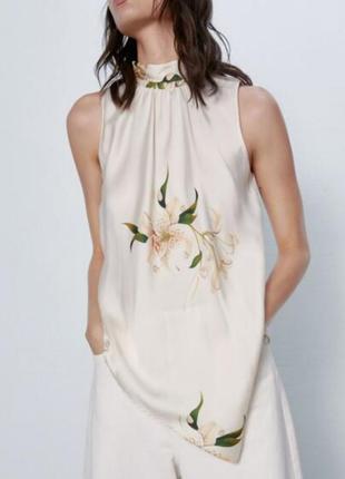 Шикарная сатиновая блуза zara