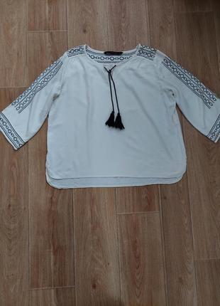 Блуза вышиванка р.10, 12 zara