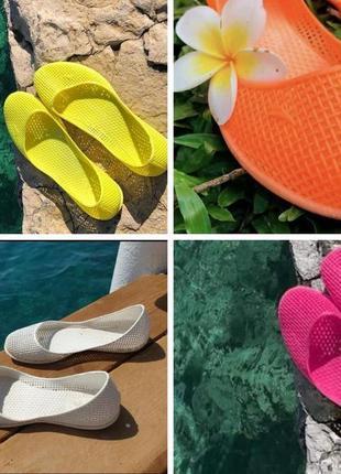 Босоножки мыльницы пляжная обувь силиконовые балетки мыльницы3 фото