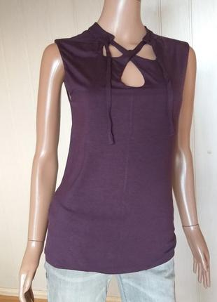 Блуза безрукавка из вискозы sisley размер м
