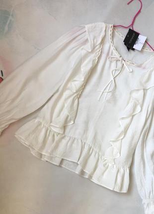 Шикарная хлопковая блуза
