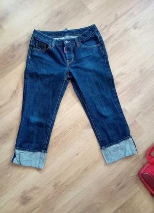 Оригинальные укороченные джинсы бриджи dsquared2