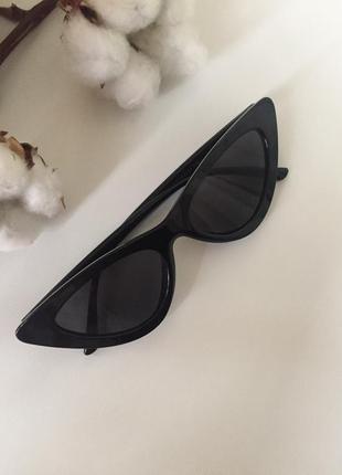Трендовые чёрные очки лисички за 99 грн!!