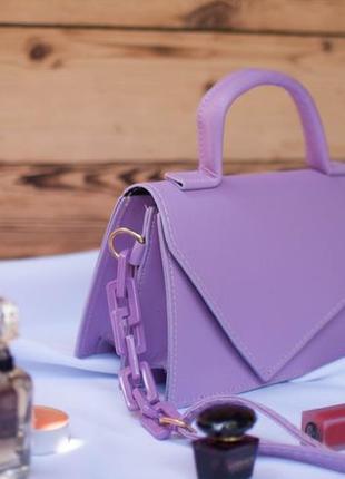 Сумочка женская adriana. летняя сумка 2021 лиловая. женский клатч через плечо