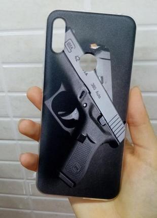 Чехол силиконовый на телефон huawei y6 2019г.
