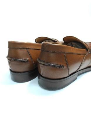 Лоферы туфли кожа geox respira оригинал! коричневые классика4 фото