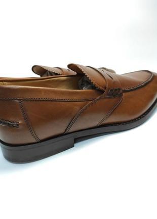 Лоферы туфли кожа geox respira оригинал! коричневые классика3 фото
