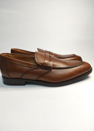 Лоферы туфли кожа geox respira оригинал! коричневые классика