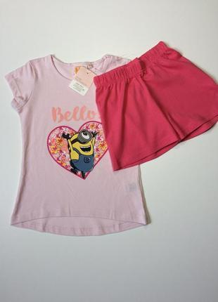 Детская пижама minion на девочку 1-2 года, рост 86-92