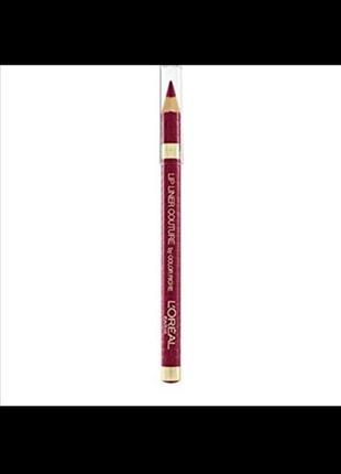 L'oreal paris lip liner couture by color riche карандаш для губ