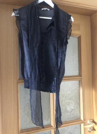 Шёлковая блуза итальянского бренда cristinaeffe