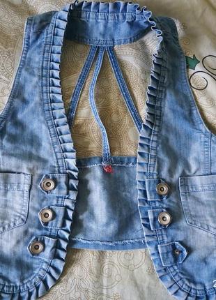 Стильное джинсовое балеро,кардиган,накидка,размер хс-с,подросток.