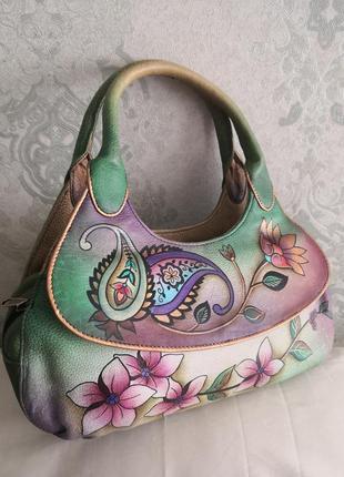 Супер шикарная кожаная сумочка anuschka👜👜👜🌹🔥💣