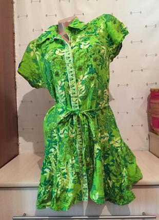 Рубашка туника на пуговицах / платье