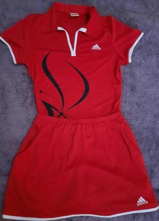 Красный костюм adidas