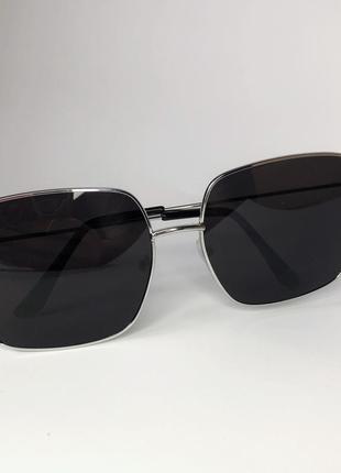 Очки женские солнцезащитные, 80 грн, серебро оправа