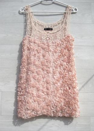 Очень красивая нежная ажурная розовая блуза best emilie италия