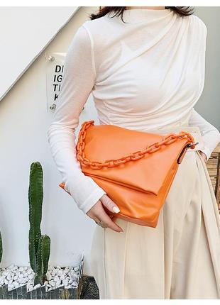 Большая сумка оранжевая