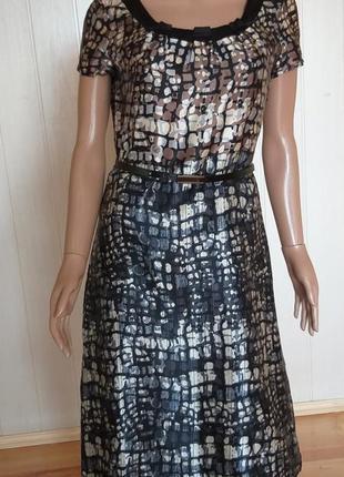 Шелковое платье autograph с поясом размер s
