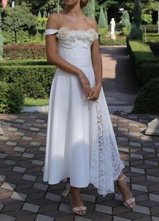 Свадебная юбка+корсет в подарок