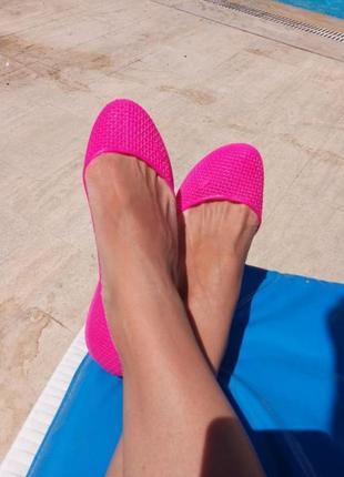 Босоножки мыльницы пляжная обувь силиконовые балетки