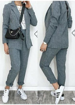 Женский костюм пиджак брюки