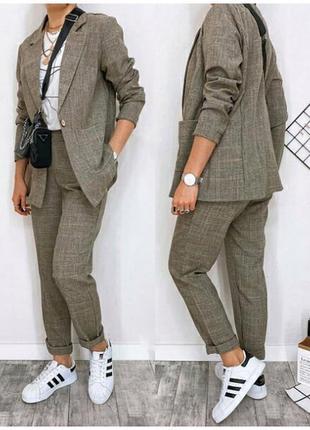 Женский костюм пиджак брюки2 фото