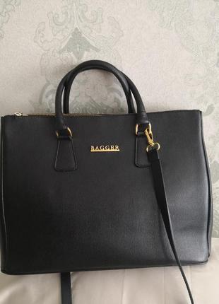 Роскошная большая кожаная сумка из кожи сафьяно bagger, италия👜👜🔥🌹💣