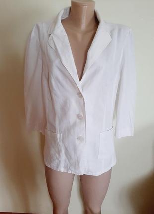 Льняной брендовий пиджак