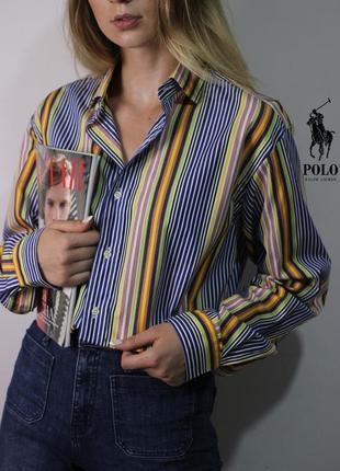 Яркая рубашка ralph lauren
