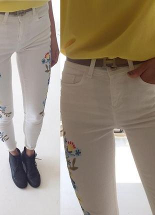 Сексуальные джинсы скинни белые штаны skinny зара