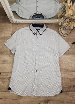 Фирменная стильная натуральная рубашка george 100% коттон