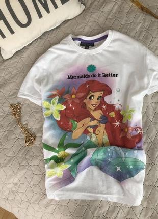Женская футболка disney с русалкой topshop