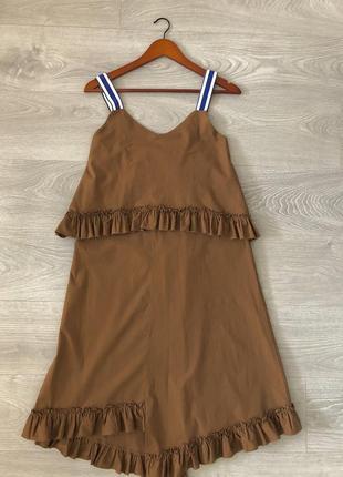 Платье, сарафан италия, хлопковый. спортивный