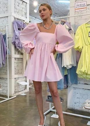 Красиве котонове плаття 🌷 біле,рожеве 🌈 якість 👍