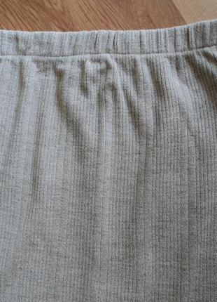 Трикотажная серая юбка миди размер 34 xs 424 фото