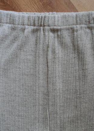 Трикотажная серая юбка миди размер 34 xs 426 фото
