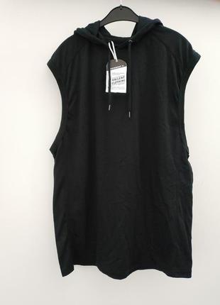 Безрукавка футболка с капюшоном vailent европа оригинал бренд фирменная