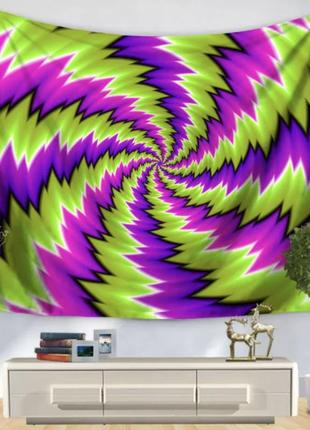 Картина-гобелен текстильный спираль визуально движется