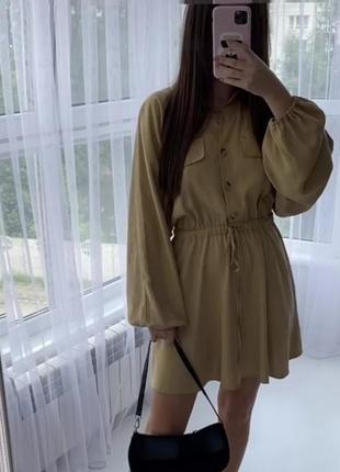 Шикарное платтк из лиоцела zara