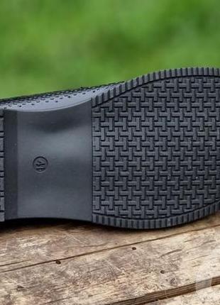 Мужские туфли летние кожаные черные - чоловічі туфлі літні шкіряні чорні10 фото