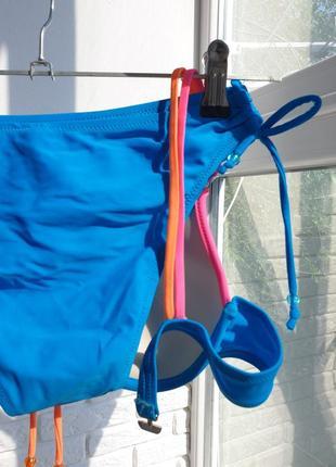 Купальник раздельный голубой синий яркий4 фото